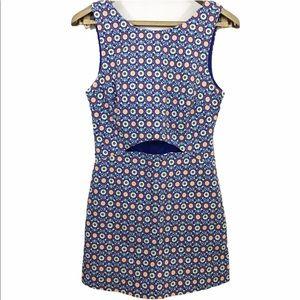Zara Trafaluc Romper Skort Dress Floral Cut Out